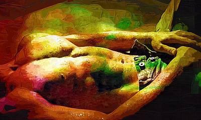 Gay Man Poster Gay Nude Print by Michael Vicin