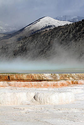 Nature Photograph - Mammoth Hot Springs In Yellowstone National Park by Pierre Leclerc Photography