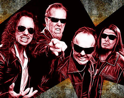 Metallica Mixed Media - Metallica Collection by Marvin Blaine