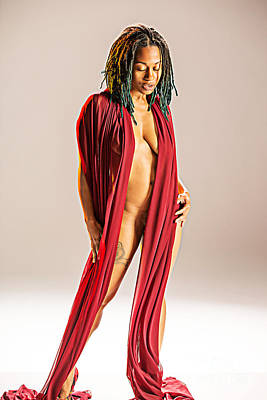 Erotic Photograph - Neemah African American Nude Girl Photograph In Sexy Sensual Col by Kendree Miller