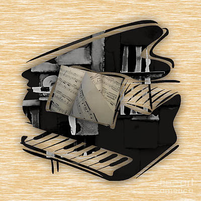 Piano Collection Print by Marvin Blaine