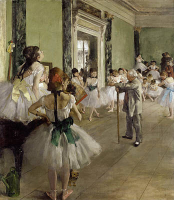 Piano Painting - The Dance Class by Edgar Degas
