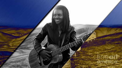 Poster Mixed Media - Tracy Chapman Collection by Marvin Blaine