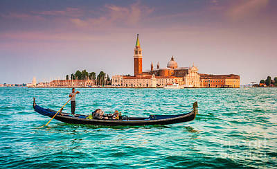 Europe Photograph - Venice Sunset by JR Photography