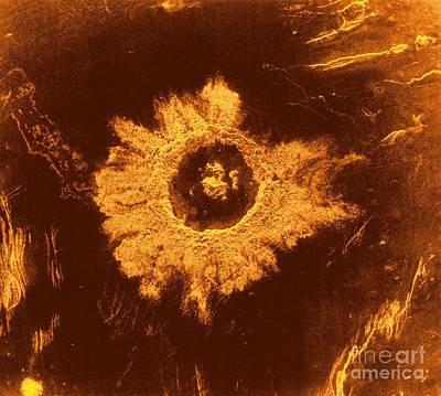Imaging Radar Photograph - Venus, Synthetic Aperture Radar Map by Detlev van Ravenswaay