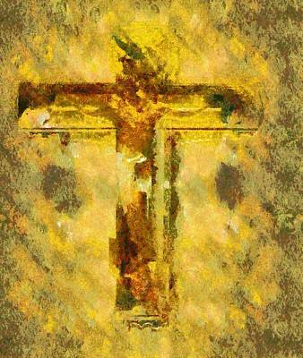 Son Digital Art - Jesus Christ - Religious Art by Elena Kosvincheva