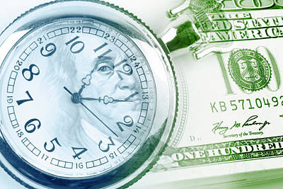 Business Digital Art - Time Is Money  by Les Cunliffe