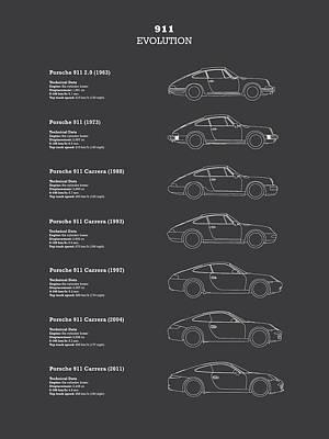 Car Photograph - 911 Evolution by Mark Rogan