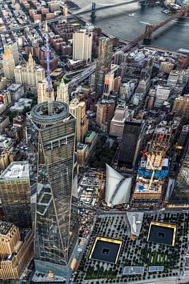911 Reflecting Pools Aerial View II Print by Susan Candelario