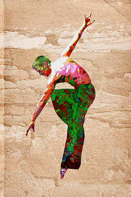 Dance Print by Elena Kosvincheva