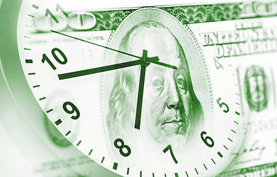 Economy Digital Art - Time Is Money  by Les Cunliffe