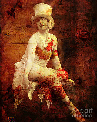 1940s Mixed Media - Winsome Woman by Chris Andruskiewicz