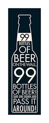 Beer Digital Art - 99 Bottles Of Beer  by Geoff Strehlow