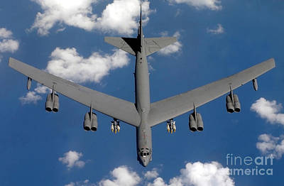A B-52 Stratofortress Print by Stocktrek Images