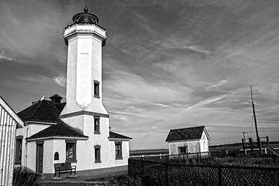 A Beacon Of Light - Bw Print by Kerry Langel