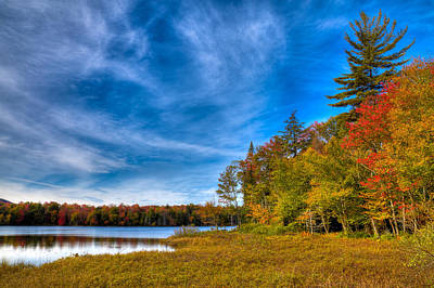 A Beautiful Autumn Day On West Lake Print by David Patterson