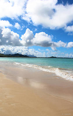 A Beautiful Day At Kailua Beach Hawaii Print by Kerri Ligatich