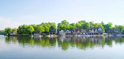 Boathouse Photograph - A Beautiful Morning On Boathouse Row by Bill Cannon