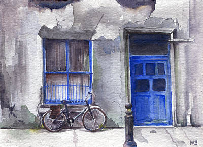 Gritty Cities Painting - A Bike In Cork by Michelle Sheppard