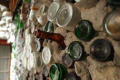 A Bottle In The Wall Print by Jeff Swan