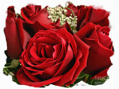 A Bouquet Of Red Roses Print by Sue Melvin
