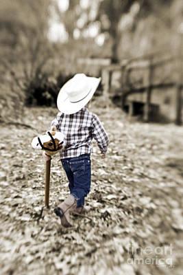 Cowboy Hat Photograph - A Boy And His Horse by Scott Pellegrin