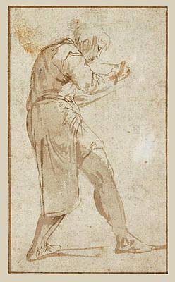 Drawing - A Boy Writing Or Sketching by Giovanni Battista Franco