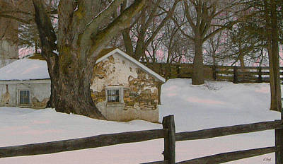 Stone Barn Photograph - A Brandywine Winter by Gordon Beck