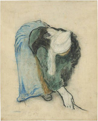 Gleaners Drawing - A Breton Gleaner by Paul Gauguin
