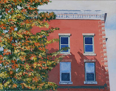Light And Dark Painting - A Brick In Time by Lynne Reichhart