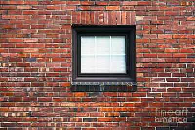 A Brick Wall. Seattle Washington Usa Print by Nathan Griffith