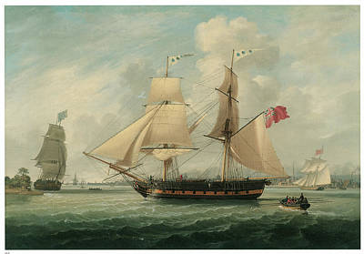 A Brig Entering Liverpool Print by John Jenkinson