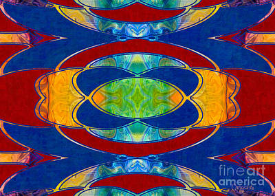 A Brisk Imagination Abstract Bliss Art By Omashte Print by Omaste Witkowski