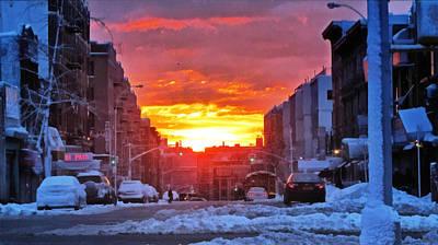 A Bronx Sunrise Print by Nidhin Nishanth