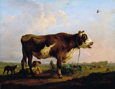 Balthasar Paul Ommeganck Painting - A Bull by Balthasar Paul Ommeganck