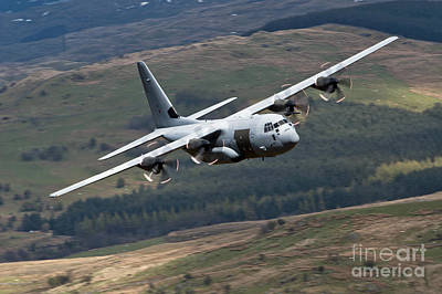 A C-130 Hercules Of The Royal Air Force Print by Andrew Chittock