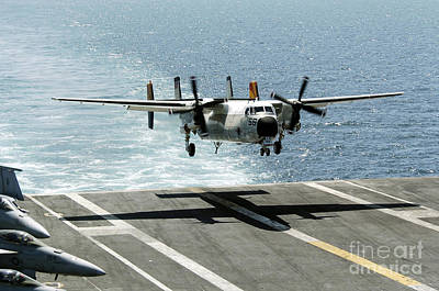 A C-2a Greyhound Prepares To Land Print by Stocktrek Images