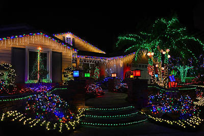Decorated For Christmas Photograph - A California Christmas by Lynn Bauer