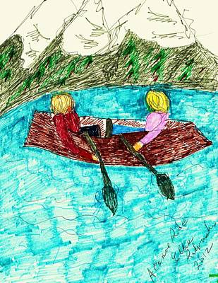 Canoe Mixed Media - A Canoe Ride by Elinor Rakowski