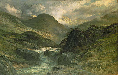Canyon Painting - A Canyon by Gustave Dore