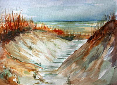 Julie Lueders Artwork Painting - A Carolina Beach Walk Through by Julie Lueders