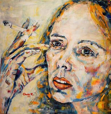 Joni Mitchell Painting - A Case Of You by Christel Roelandt
