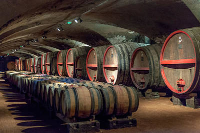 A Cellar Of Burgundy Print by W Chris Fooshee