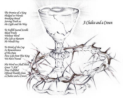 Chalice Mixed Media - A Chalice And A Crown by Stephen Bozik