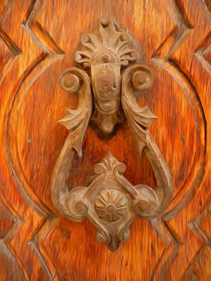 Entrance Door Mixed Media - A Charming Entrance by Georgiana Romanovna