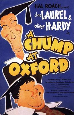 A Chump At Oxford Print by Movie Poster Prints