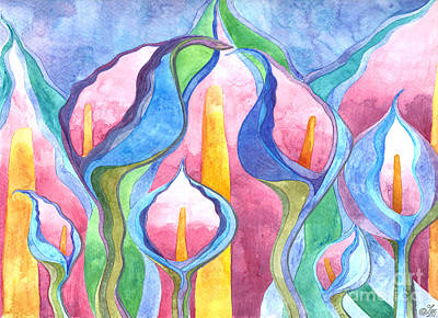 Lilies Painting - A Closer Look 1 by Sue Gardiner