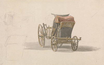 Coat Of Arms Painting - A Coach With Royal Coat Of Arms by Paul Sandby