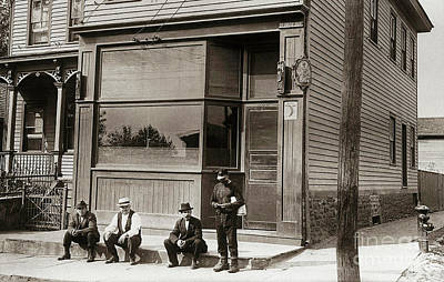 A Coal Miners Bar  George Ave Parsons Pennsylvania Early 1900s Print by Arthur Miller
