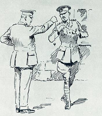 A Colonel And His Adjutant Playing Print by Vintage Design Pics